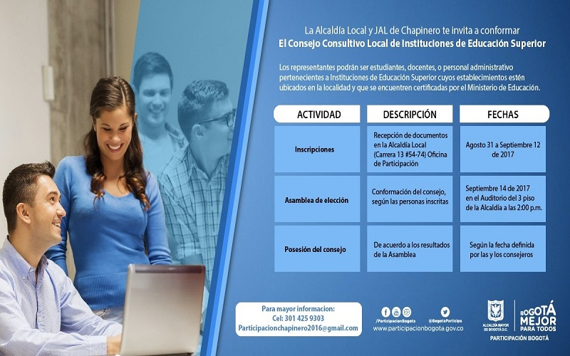 Inscripciones al Consejo Consultivo Local de Instituciones de Educación Superior