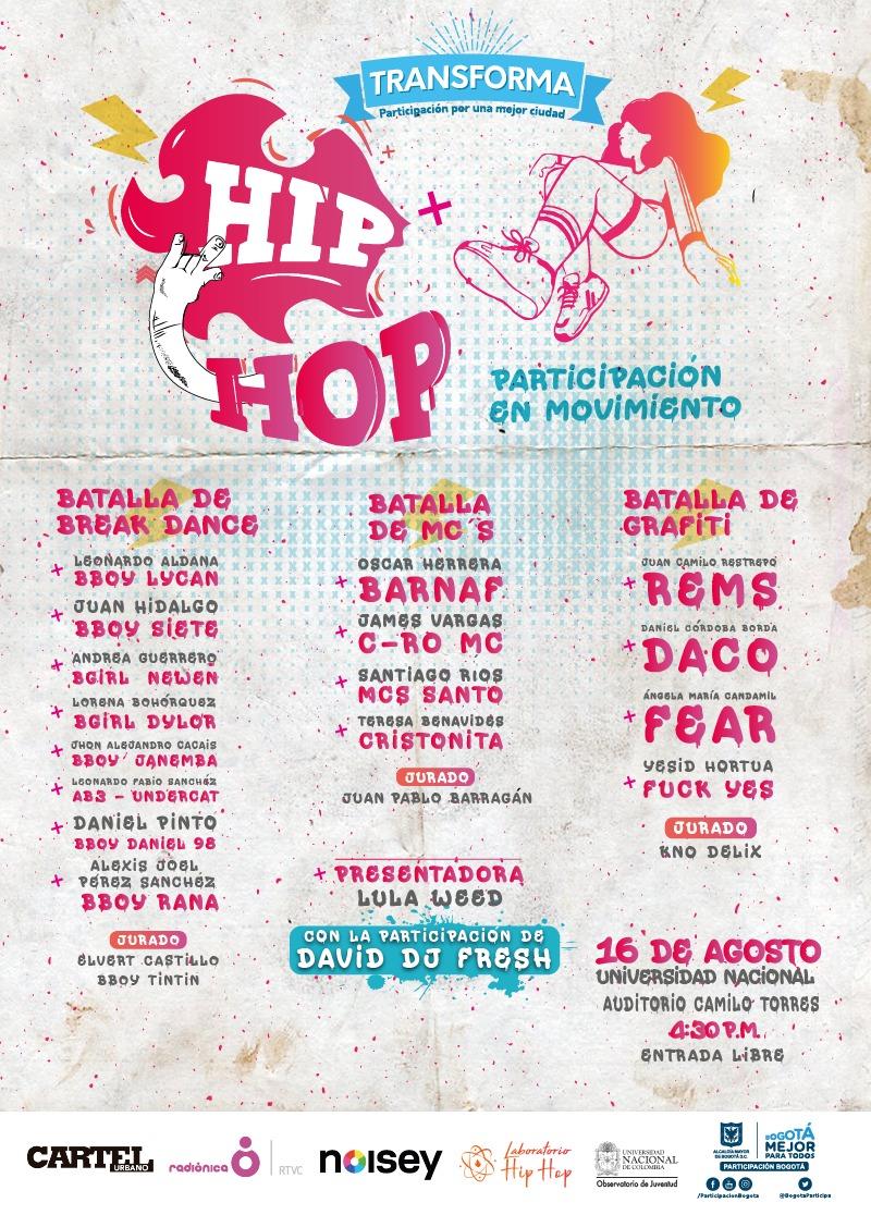Asista al foro  Transforma Hip Hop - Participación en Movimiento ... d630fe5741e